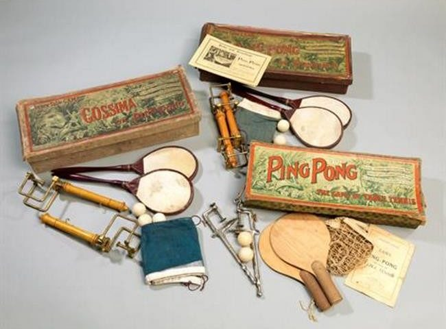 early ping pong equipment