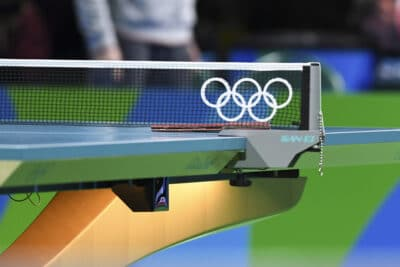Table tennis at the olympics.