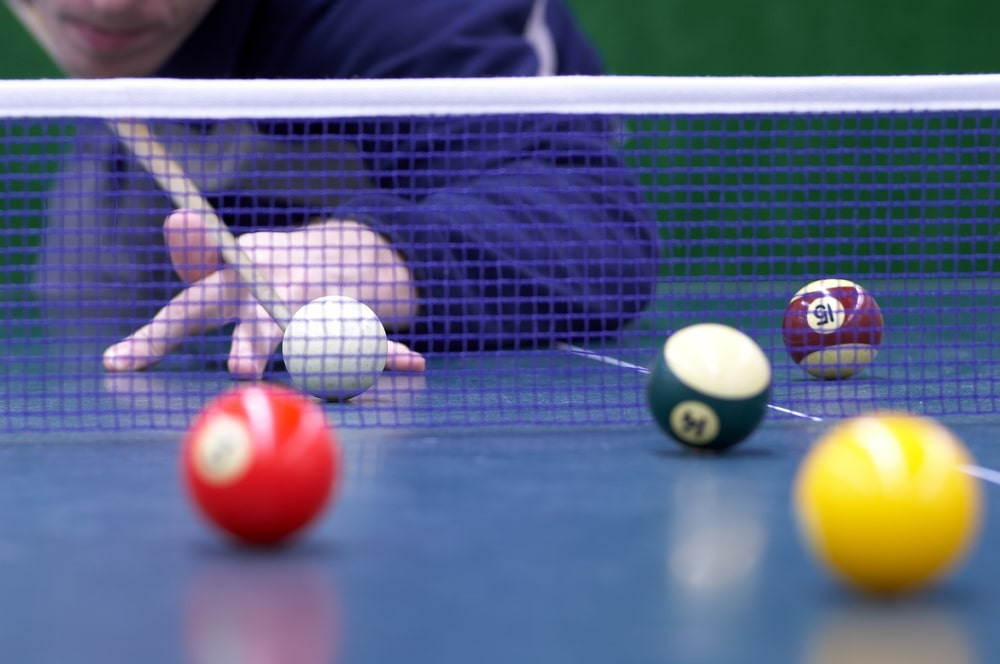 billiard with snooker balls is played on ping-pong table