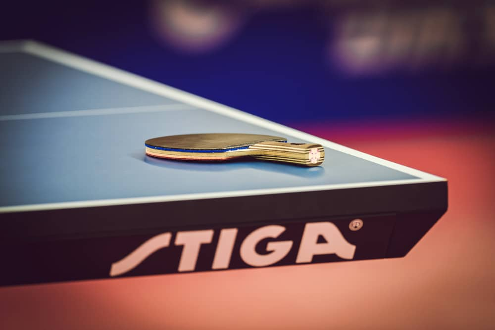 Rackets at table at the table tennis tournament