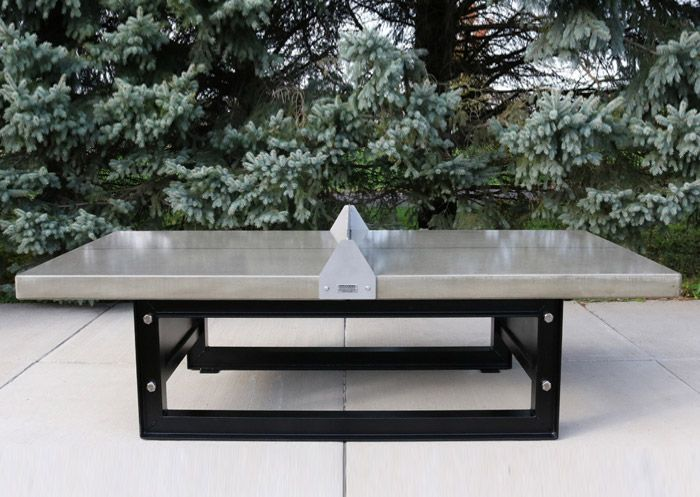outdoor concrete ping pong table