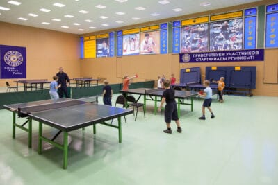 Childrens competition ping pong in Russian State University