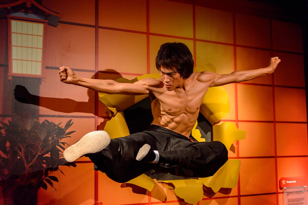 Bruce Lee at the Madame Tussauds museum in SF